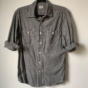 UNIQLO denim button-down shirt